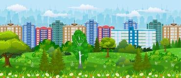 Vista moderna della città Fotografie Stock Libere da Diritti
