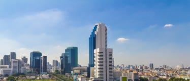 Vista moderna della città di Bangkok, Tailandia cityscape Immagine Stock