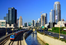 Vista moderna di Tel Aviv Fotografia Stock