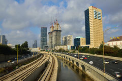 Vista moderna di Tel Aviv Fotografie Stock Libere da Diritti