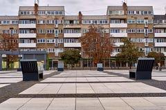 Vista moderna piacevole del quadrato di Nowy Targ nella vecchia città di Wroclaw Wroclaw è la più grande città in Polonia occiden fotografie stock libere da diritti