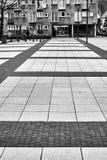 Vista moderna piacevole del quadrato di Nowy Targ nella vecchia città di Wroclaw Fotografie Stock