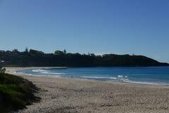 Vista Mollymook della linea costiera Fotografia Stock