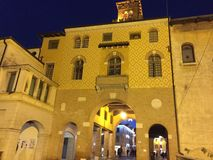 Vista molto piacevole italiana delle citt? fotografia stock libera da diritti