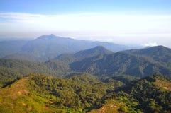 Vista montañosa de las montañas de Genting Fotos de archivo libres de regalías