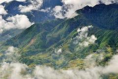 Vista montagnosa di Sapa, Vietnam Immagini Stock