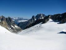 Vista Monte Bianco delle alpi delle montagne Immagini Stock