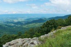 Vista. Mountain Vista from Franklin Cliffs Overlook, Skyline Drive, Shenandoah National Park, Virginia Royalty Free Stock Image