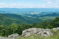 Vista. Mountain Vista from Franklin Cliffs Overlook, Skyline Drive, Shenandoah National Park, Virginia Royalty Free Stock Photography