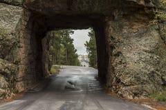 Vista Mt Rushmore del tunnel Fotografia Stock