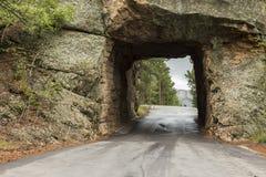 Vista Mt Rushmore del tunnel Immagini Stock