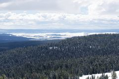 Vista from Mt Washburn, Yellowstone National Park Royalty Free Stock Photography
