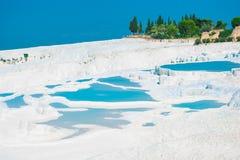 Vista muy bonita de Pamukkale Fotografía de archivo