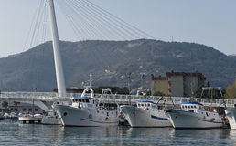 vista muy bonita del puerto del spezia del la Fotos de archivo