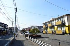 Vista na área suburbana de uma cidade pequena de Japão fotos de stock royalty free