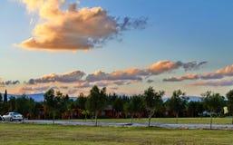 Vista na aldeia da montanha fotos de stock royalty free