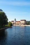 Vista na aldeia piscatória, Kaliningrad Foto de Stock Royalty Free