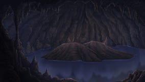 Vista na boca da caverna ilustração stock