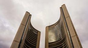 Vista na câmara municipal em Toronto, Canadá imagem de stock royalty free