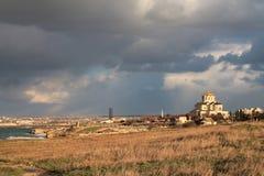 Vista na catedral de StVladimir, república de Crimeia Fotos de Stock Royalty Free