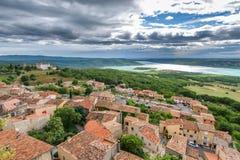Vista na cidade Aiguines Fotografia de Stock