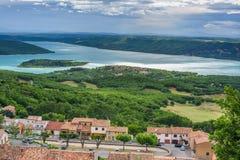 Vista na cidade Aiguines Foto de Stock Royalty Free