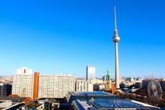 Vista na cidade de Berlim foto de stock