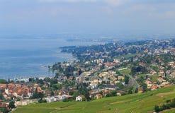 Vista na cidade de Lausana Fotografia de Stock Royalty Free