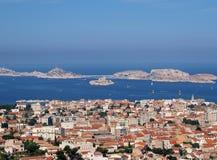 Vista na cidade de Marselha Fotos de Stock Royalty Free