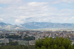 Vista na cidade de Palma Imagens de Stock