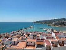 Vista na cidade de Peniscola, Valência, Espanha Imagens de Stock