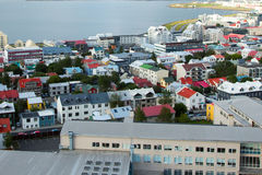 Vista na cidade Reykjavik. Foto de Stock Royalty Free