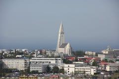 Vista na cidade Reykjavik Foto de Stock