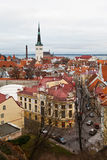 Vista na cidade velha de Tallinn de acima Foto de Stock Royalty Free