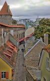 Vista na cidade velha de Tallinn Estónia Imagens de Stock