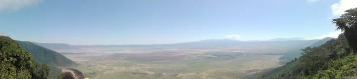 Vista na cratera de Ngorongoro Fotografia de Stock Royalty Free