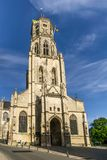 Vista na igreja de Saint Gummarus em Lier - Bélgica Imagens de Stock Royalty Free