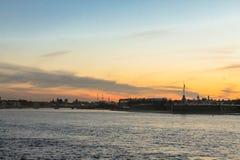 Vista na ilha de Zayachy Foto de Stock Royalty Free