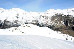 Vista na montagem Gotthard sobre Airolo Fotografia de Stock