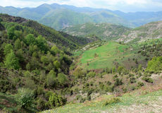 Vista na montanha de Rhodope, Bulgária Imagens de Stock