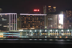 Vista na noite Hong Kong Imagens de Stock Royalty Free