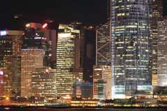 Vista na noite Hong Kong Fotografia de Stock Royalty Free