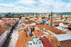 Vista na parte central de Kosice Imagem de Stock Royalty Free