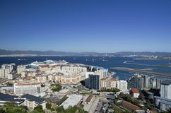 Vista na parte norte de Gibraltar Fotografia de Stock Royalty Free