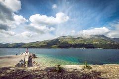 Vista na península de Peljesac Imagem de Stock