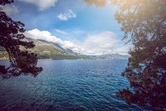 Vista na península de Peljesac Imagem de Stock Royalty Free