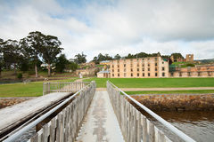 Vista na penitenciária na cadeia histórica do Port Arthur Imagens de Stock