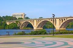 Vista na ponte chave do parque de Georgetown foto de stock royalty free