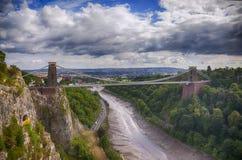 Vista na ponte de Bristol Fotos de Stock Royalty Free