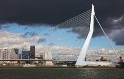 Vista na ponte do Erasmus Fotografia de Stock Royalty Free